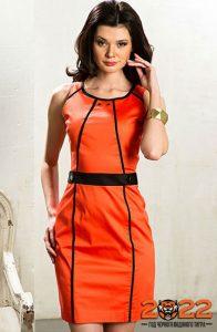 Красивое оранжевое платье на 2022 год