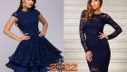 Синее новогоднее платье на 2022 год