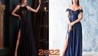Вечерние новогодние платья с разрезом на 2022 год