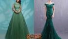 Вечерние новогодние платья на 2022 год в зеленом цвете