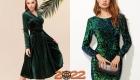 Зеленое новогоднее платье на 2022 год
