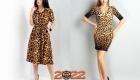Леопардовое платье на Новый Год 2022