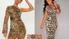 Модное леопардовое платье на Новый Год 2022