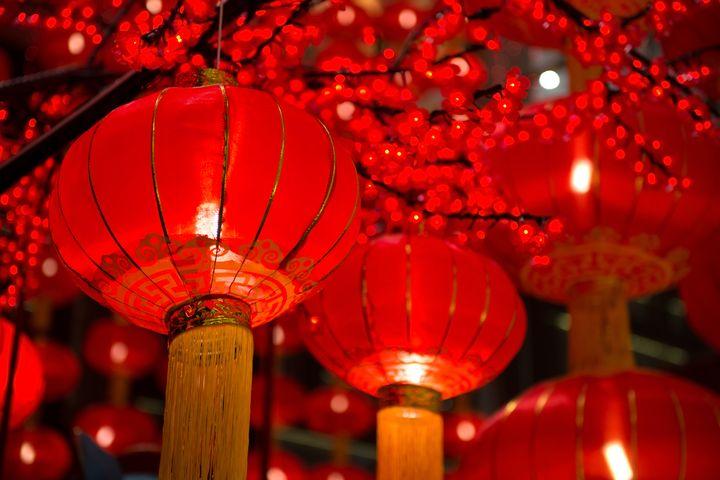 Красные фонарики