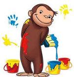 обезьяна с краской
