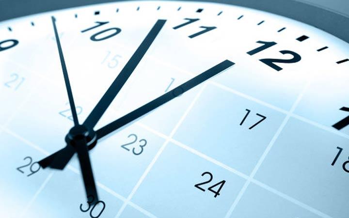 Часы рабочих недель в 2019 году