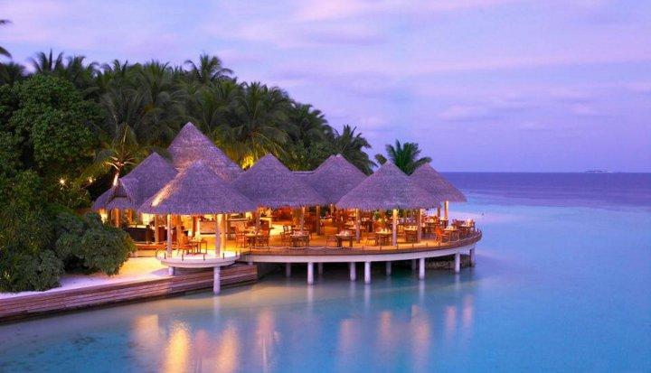 домики на Мальдивах