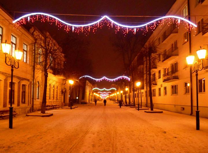 Новогодние улицы Витебска