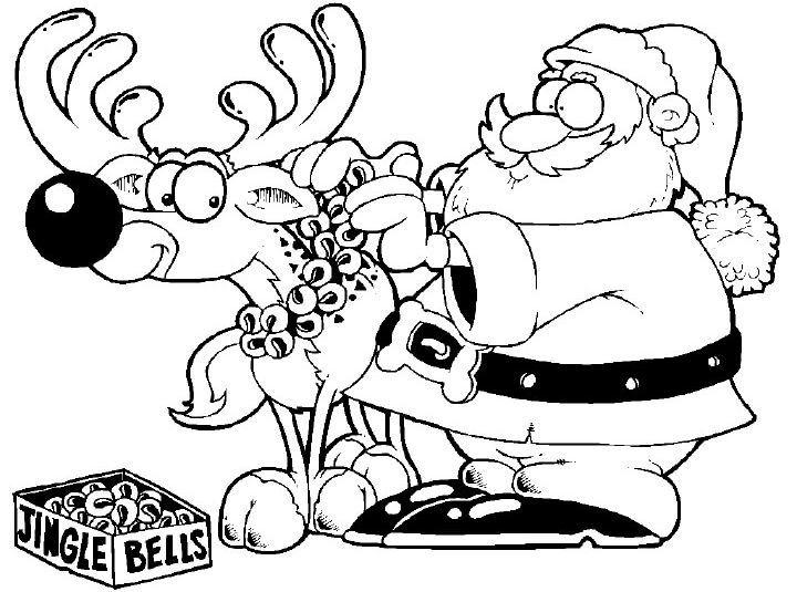 Олень и Санта