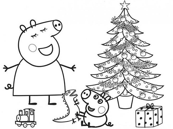 Новогодний плакат свинка Пеппа