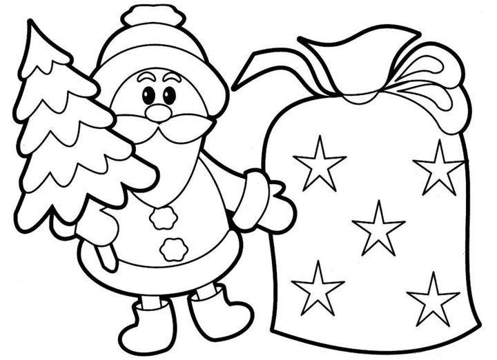 Новогодний плакат с дедом Морозом