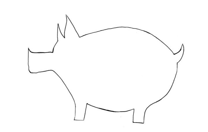 МК свинка из ткани