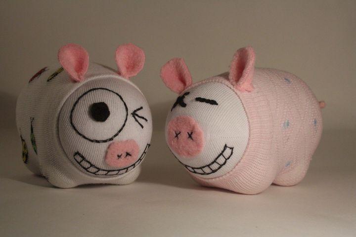 МК свинка из носка