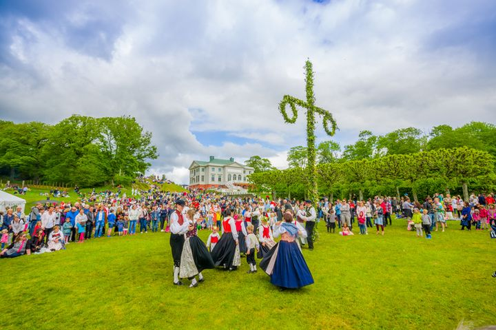 Мидсоммар в Швеции