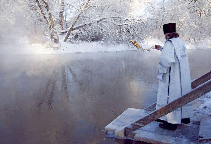 Освящение водоемов на Крещение