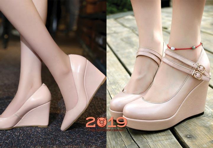 Модные туфли на танкетке 2018-2019 года