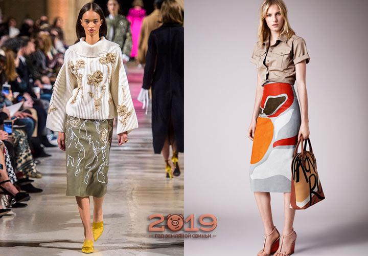 Стильные юбки на осень 2018 года