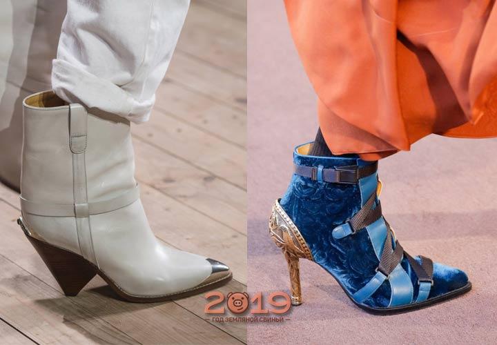 Обувь с узким носком мода 2019 года