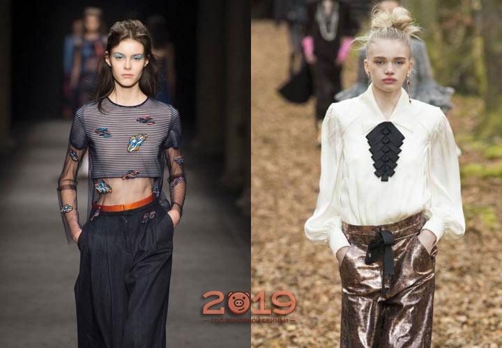 Модные блузки 2019 года