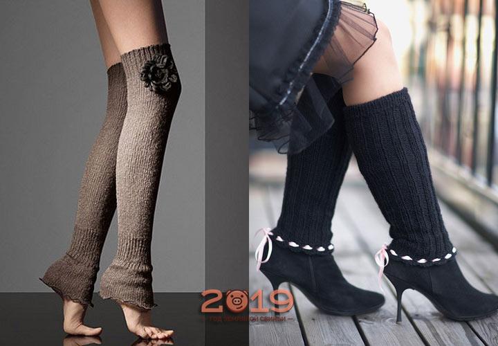 Модные вязаные гетры 2018-2019 года