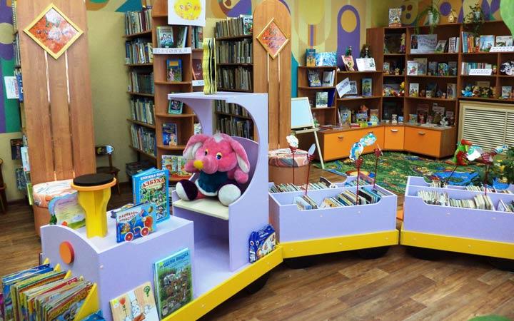Оформление детской библиотеки
