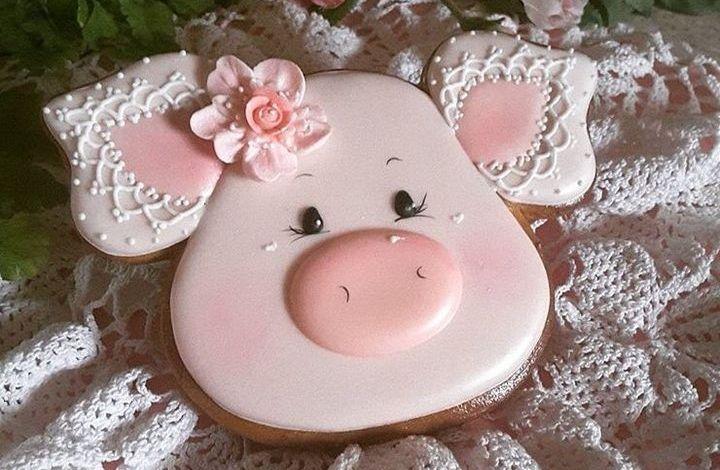 Новогодний пряник к году Свиньи