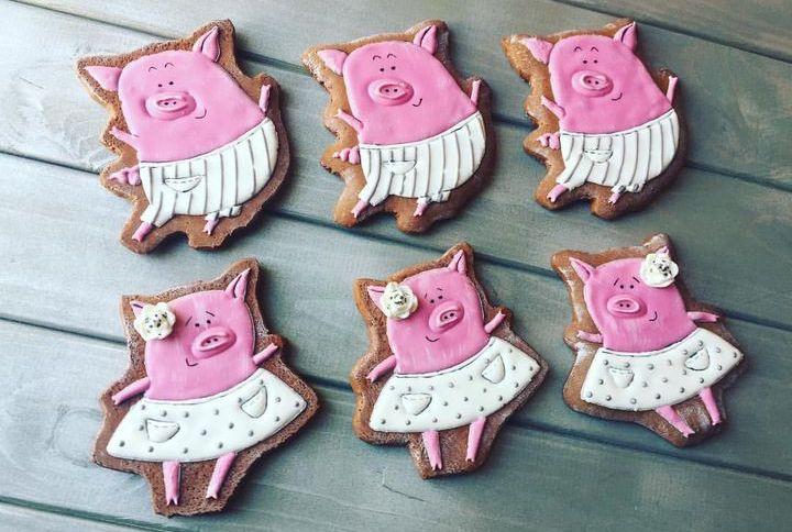Новогодние пряники Свинки