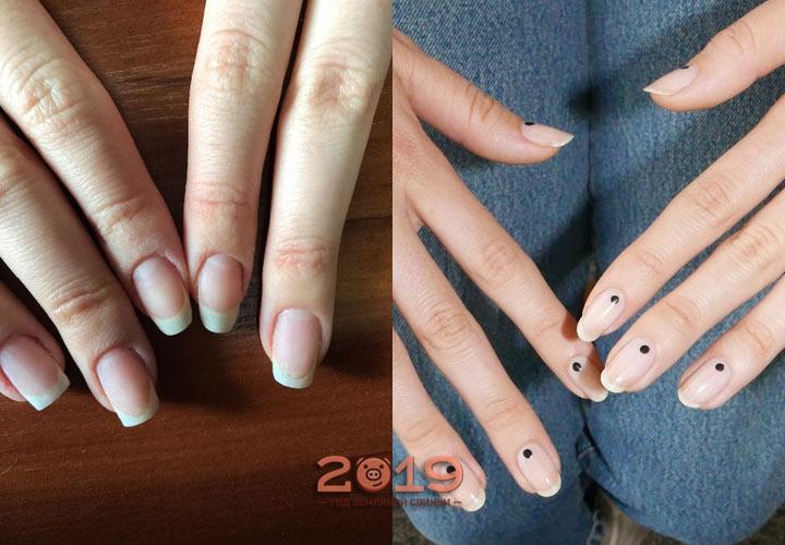 Шеллак голые ногти на Новый Год 2019