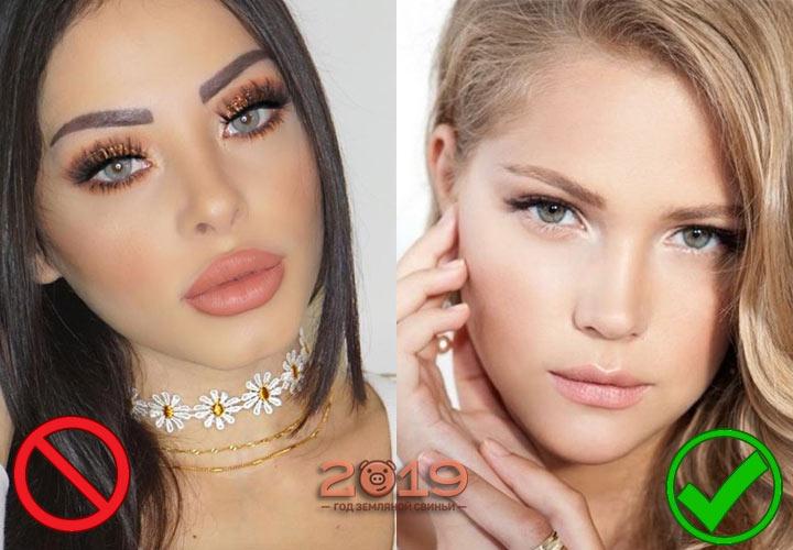 Антитренды макияжа 2019
